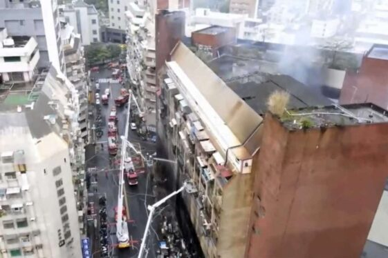 46 dead and 79 injured in Taiwan skyscraper fire