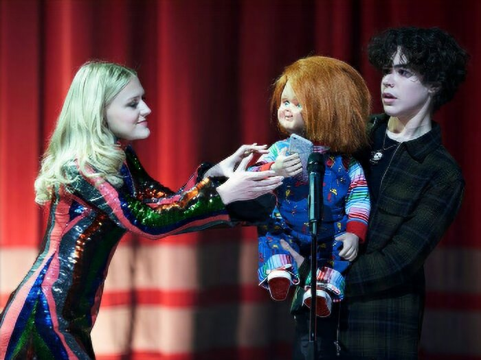 """'Chucky' star says Chucky doll felt """"alive"""" when acting with him: 'It's actually kind of weird'"""