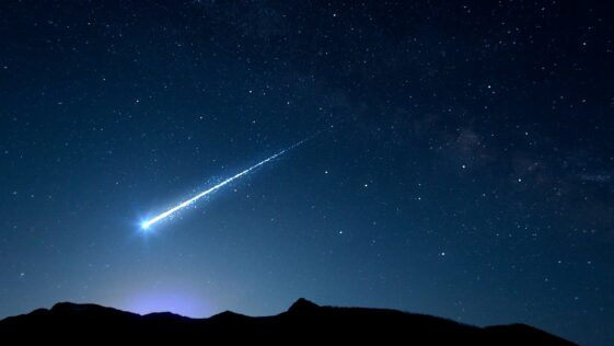 A meteorite landed inches from a woman's pillow while she slept