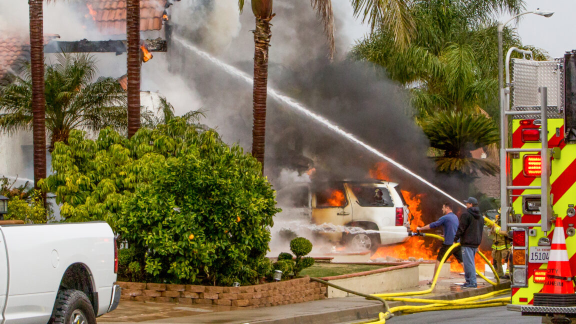 At least two people were killed and two others were injured after a small plane crashed in a Southern California neighborhood